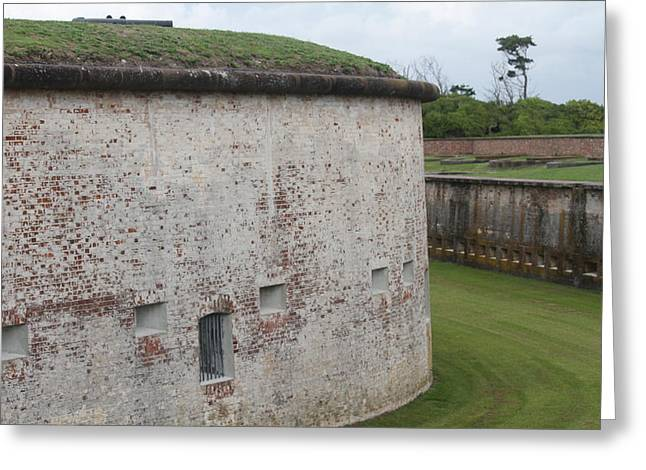 Fort Macon 3 Greeting Card by Cathy Lindsey