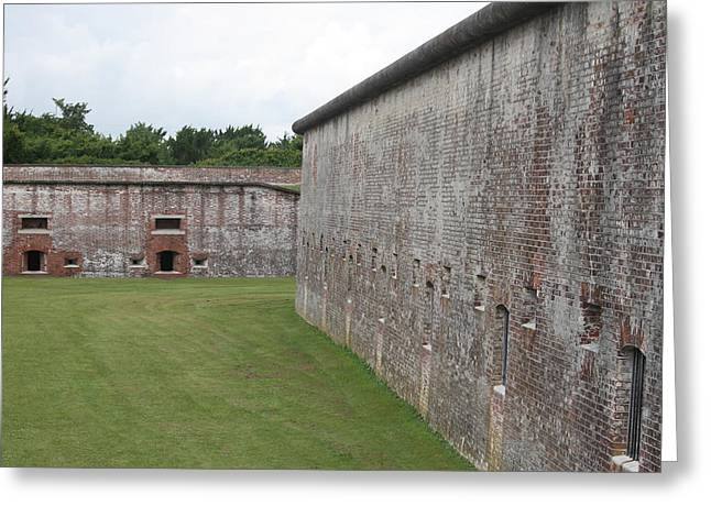 Fort Macon 5 Greeting Card by Cathy Lindsey