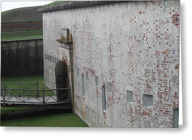 Fort Macon 6 Greeting Card by Cathy Lindsey
