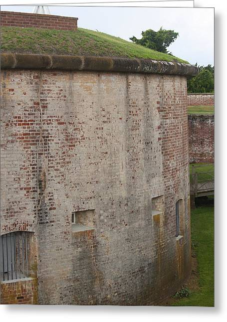 Fort Macon 7 Greeting Card by Cathy Lindsey