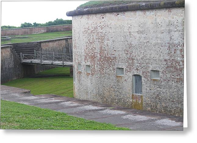 Fort Macon 8 Greeting Card by Cathy Lindsey