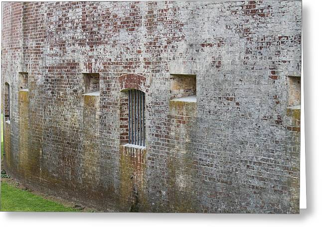 Fort Macon Greeting Card by Cathy Lindsey