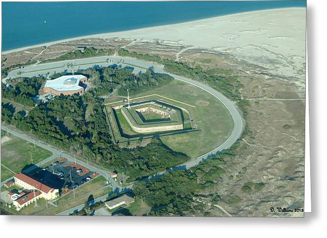 Fort Macon From The Air Greeting Card