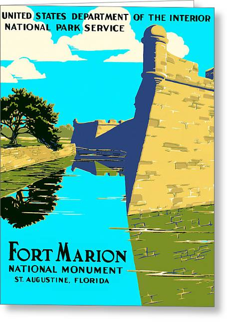 Fort Marion - Castillo De San Marcos Greeting Card by Mark E Tisdale