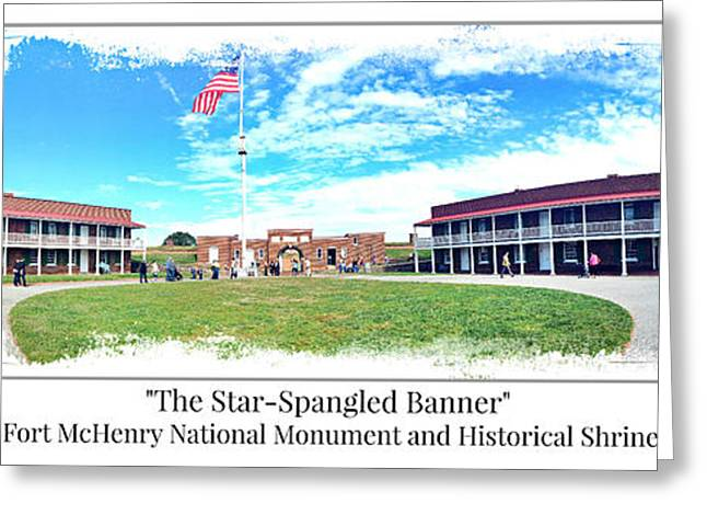 Fort Mchenry Panorama Greeting Card