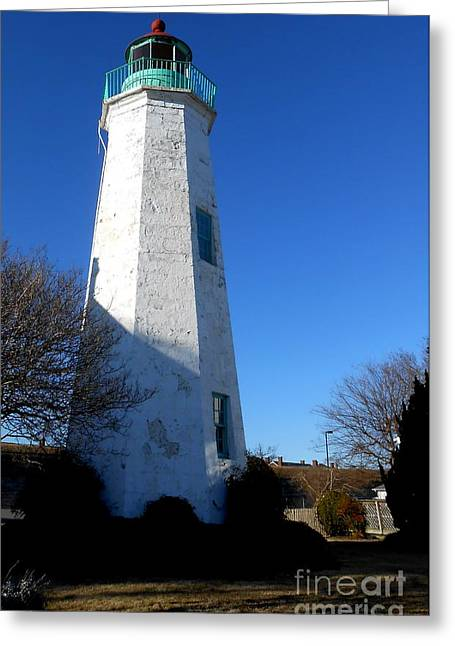 Fort Monroe Lighthouse Greeting Card by Lesley Giles