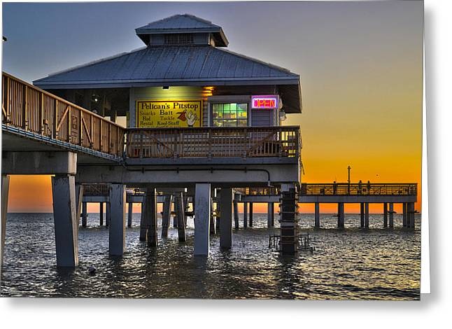 Fort Myers Beach Pier 4 Greeting Card