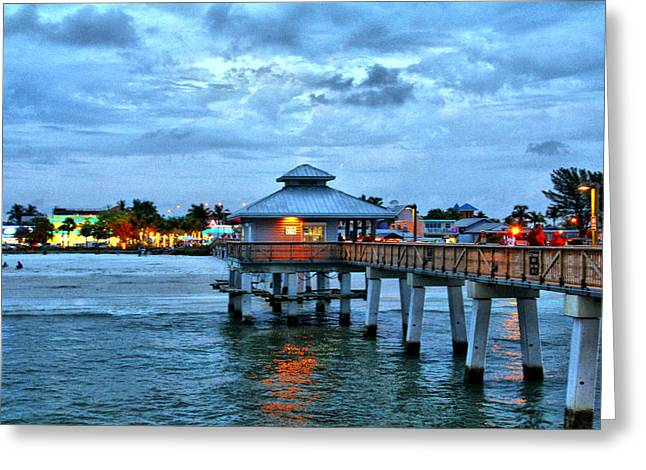 Greeting Card featuring the photograph Fort Myers Beach by Rosemary Aubut