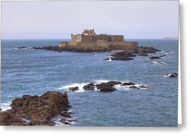 Fort National - Saint-malo Greeting Card by Joana Kruse