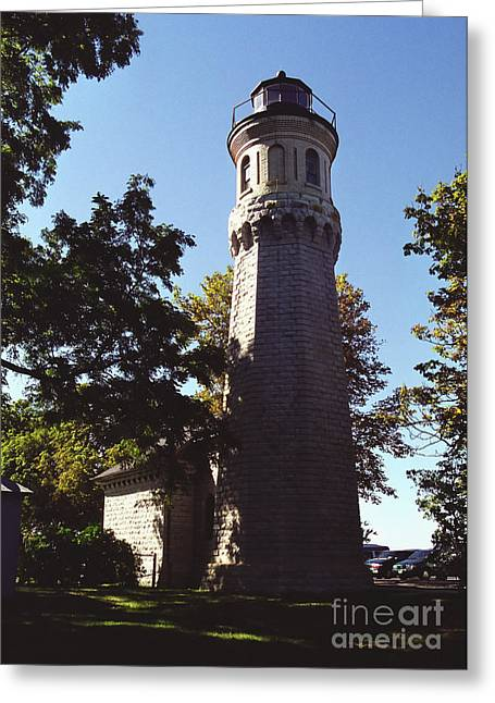 Greeting Card featuring the photograph Fort Niagara Lighthouse by Tom Brickhouse