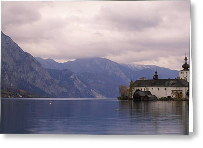 Fort On An Island In A Lake, Schloss Greeting Card by Panoramic Images