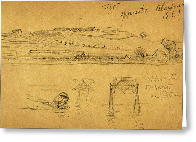 Opposite greeting cards page 3 of 27 fine art america fort opposite alexandria 1861 greeting card m4hsunfo