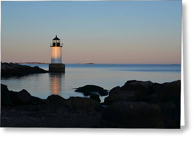 Fort Pickering Lighthouse Winter Island Salem Ma Greeting Card by Toby McGuire