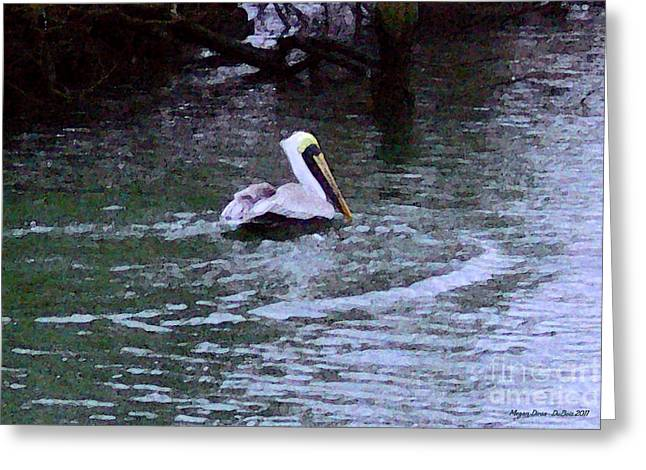 Greeting Card featuring the photograph Fort Pierce Pelican by Megan Dirsa-DuBois