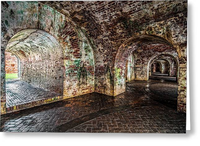 Fort Pike Greeting Card by Andy Crawford