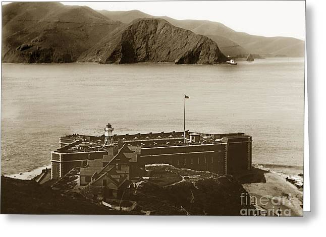 Fort Point And The Golden Gate San Francisco Circa 1890 Greeting Card by California Views Mr Pat Hathaway Archives