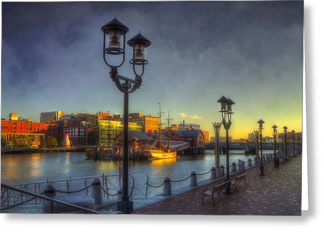 Fort Point Channel Sunset - Boston Greeting Card