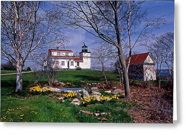 Fort Point Lighthouse Greeting Card by Skip Willits