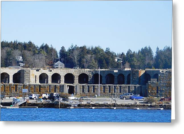 Fort Popham In Maine Greeting Card by Catherine Gagne