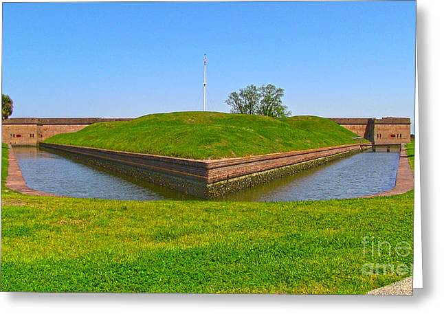 Fort Pulaski Moat System Greeting Card by D Wallace