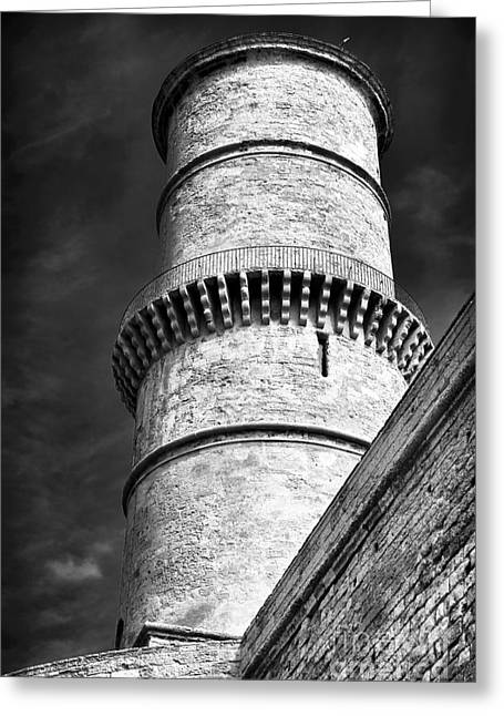 Fort Saint-jean Tower Greeting Card by John Rizzuto