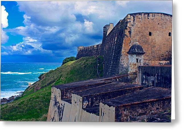 Fort San Cristobal Greeting Card by Stuart Litoff