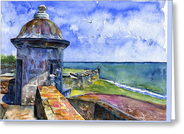 Fort San Juan Puerto Rico Greeting Card