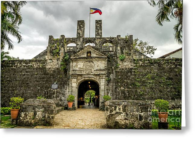 Fort San Pedro Greeting Card by Adrian Evans
