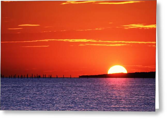 Fort Story Sunrise Greeting Card