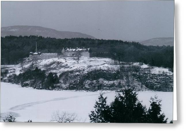 Fort Ticonderoga From Mount Independence Greeting Card by David Fiske