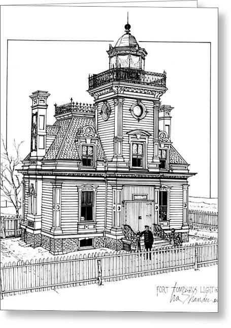 Fort Tompkins Lighthouse Greeting Card