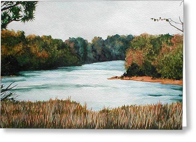 Fort Toulouse Coosa Tallapoosa River Greeting Card by Beth Parrish