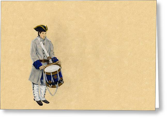 Fort Toulouse Drummer Boy Greeting Card by Beth Parrish
