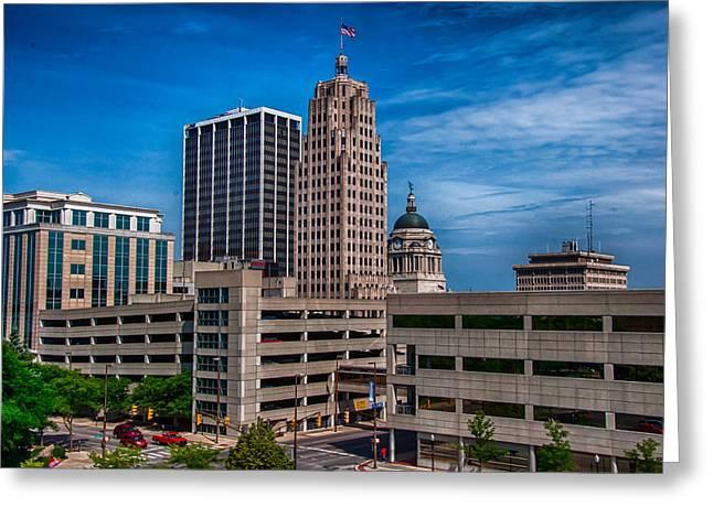 Fort Wayne Skyscrapers Greeting Card