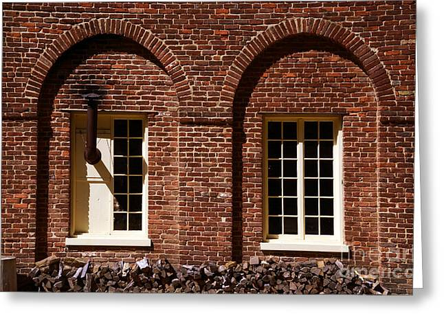 Fort Windows Greeting Card by Paul W Faust -  Impressions of Light