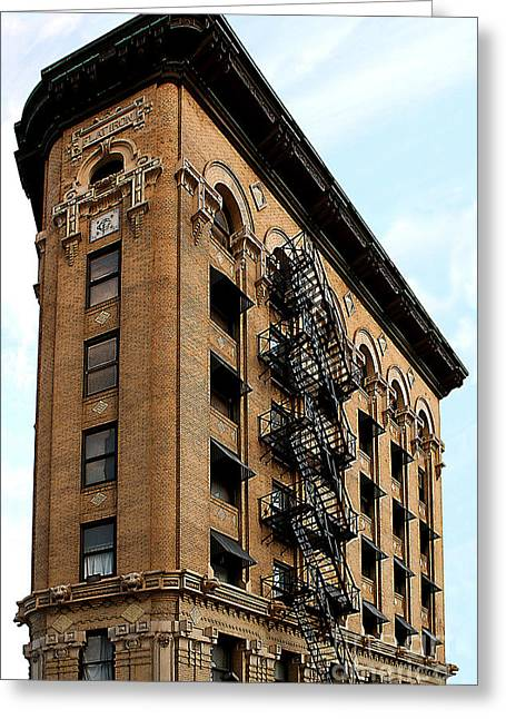 Fort Worth Flatiron Building Greeting Card