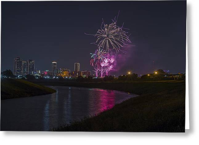 Fort Worth Fourth Of July Fireworks Greeting Card