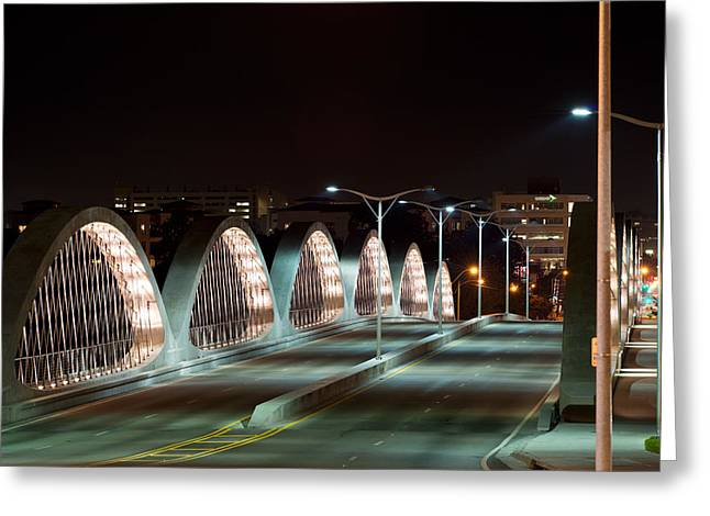 Fort Worth Seventh Street Bridge Oct 10 2014 Greeting Card