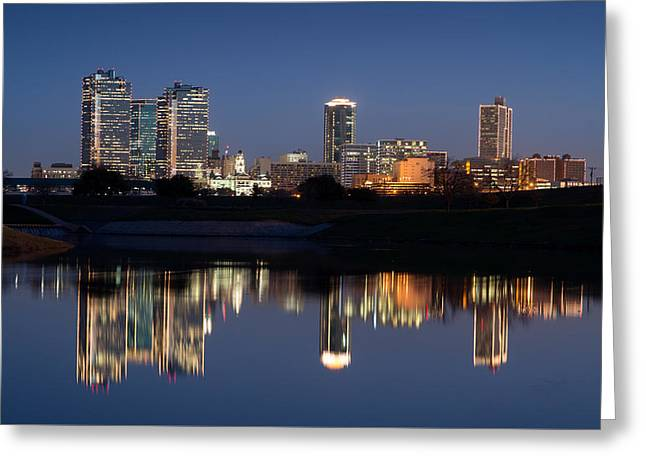 Fort Worth Skyline 020915 Greeting Card