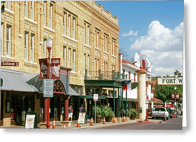 Fort Worth Stockyards, Fort Worth Greeting Card by Panoramic Images