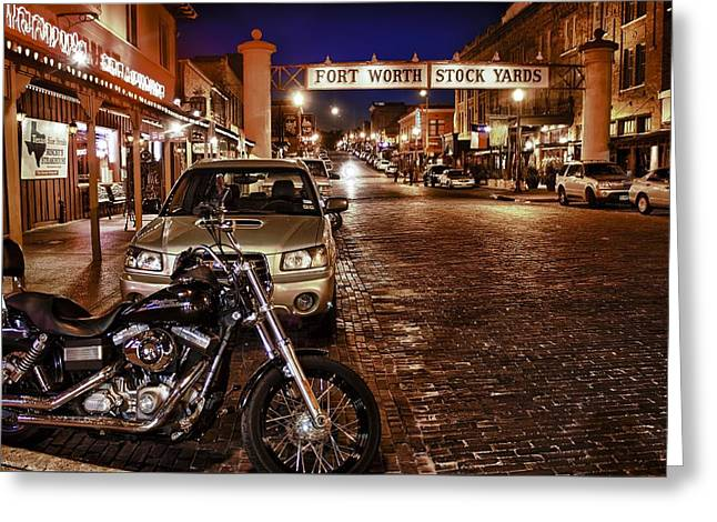Fort Worth Stock Yards Greeting Card by John Hesley