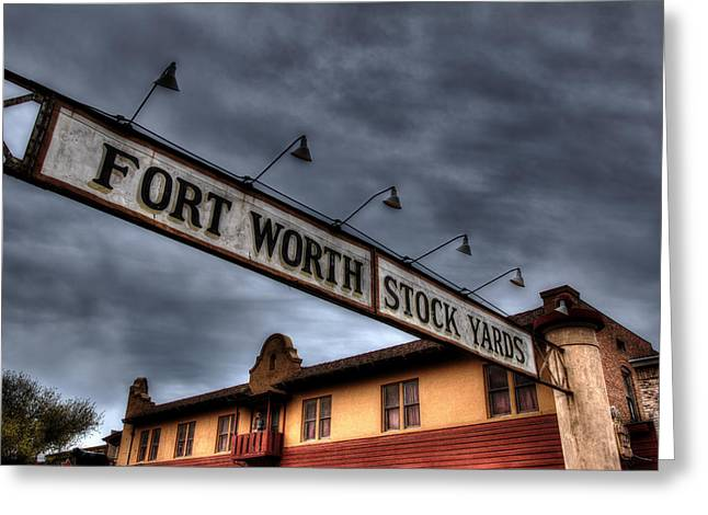 Fort Worth Stockyards Welcome Greeting Card by Jonathan Davison