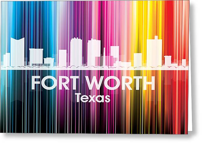 Fort Worth Tx 2 Greeting Card by Angelina Vick