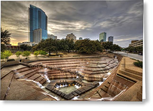 Fort Worth Water Garden Greeting Card