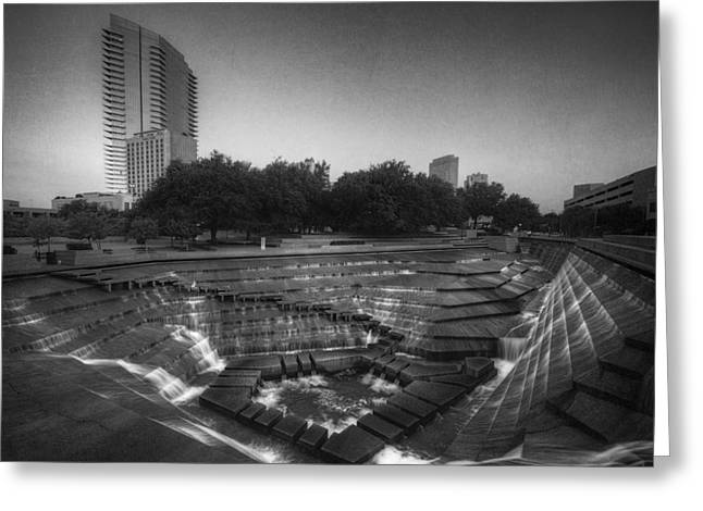 Fort Worth Water Gardens Greeting Card by Joan Carroll