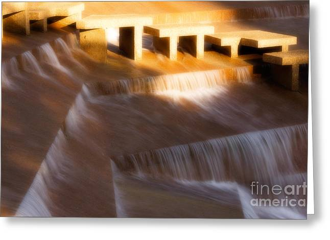 Fort Worth Water Gardens Steps Greeting Card