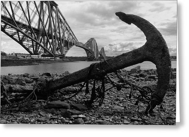 Forth Bridge Anchor Greeting Card by Jeremy Voisey