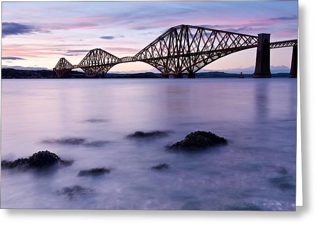 Forth Bridge At Sundown Greeting Card