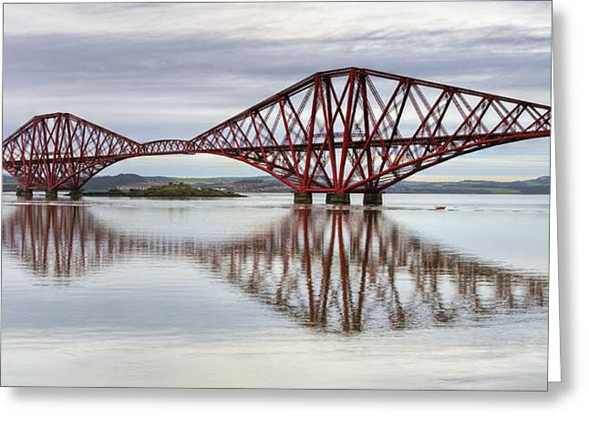 Forth Bridge Reflections Greeting Card