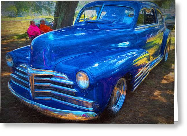 Forties Classic Chevrolet Car Greeting Card by Rebecca Korpita